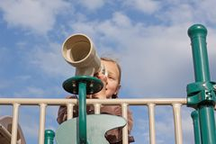 Fun at the Playground Royalty Free Stock Photography