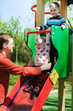 Fun on playground Royalty Free Stock Images