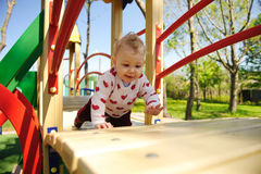 Fun on playground Stock Photos