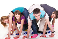 Fun while playing twister Royalty Free Stock Image