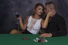 Fun Poker Night Stock Photo