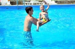 Fun in pool Stock Image