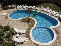 Fun in the pool Royalty Free Stock Photo