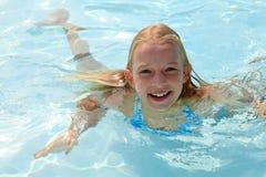 Fun at the pool Stock Photos