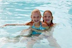 Fun at the pool Stock Image