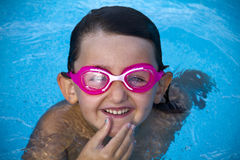 Fun in pool Royalty Free Stock Image