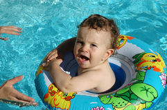 Fun in the pool Royalty Free Stock Photo