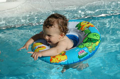 Fun in the pool Royalty Free Stock Photography