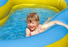 Fun in the pool Stock Photography