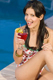 Fun By The Pool Stock Images