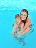 Fun in pool Stock Images
