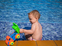 Fun by the pool Stock Image