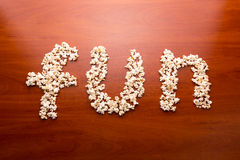 Fun with popcorn Royalty Free Stock Images