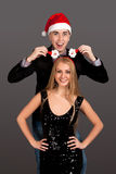 Fun portrait of man and woman Royalty Free Stock Images