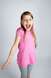 Fun portrait of a сute little girl Royalty Free Stock Image