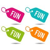 Fun Price Tags. Flat Eps10 Vector Illustration. Four colours icons Stock Photo