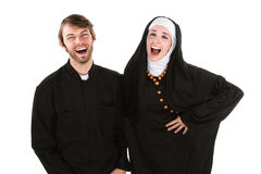 Fun Priest and Nun Royalty Free Stock Image