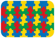 Fun primary colors jigsaw Royalty Free Stock Images