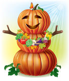 Fun pumpkin and harvest Royalty Free Stock Photo
