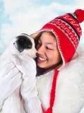 Fun with a puppy Stock Photos