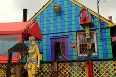 Fun and quirky exterior of famous eatery, The Paper Moon Diner, Maryland, April,2015 Royalty Free Stock Photography