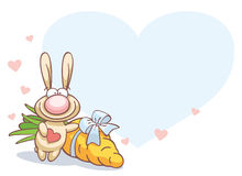 Fun rabbit on Valentine's Day Royalty Free Stock Image