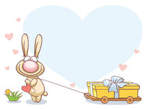 Fun rabbit on Valentine's Day Stock Image