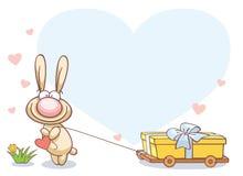 Fun rabbit on Valentine's Day Stock Image