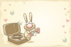 Fun rabbit on Valentine's Day Royalty Free Stock Images