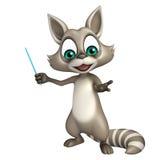 Fun Raccoon cartoon character Royalty Free Stock Image