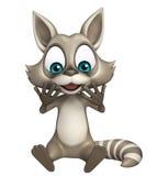 Fun Raccoon cartoon character sitting Royalty Free Stock Images