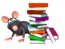 Fun  Rat cartoon character with books Royalty Free Stock Photos