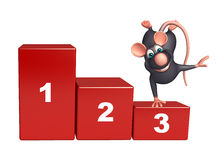 Fun  Rat cartoon character with level. 3d rendered illustration of Rat cartoon character with level Royalty Free Stock Image