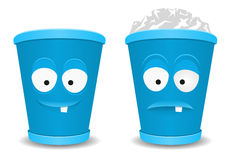 Fun recycle bins Royalty Free Stock Images