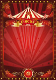 Fun red circus poster Royalty Free Stock Image