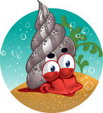 Fun red lobster, snail Royalty Free Stock Photos