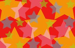 Fun red stars background. Illustration Stock Photos