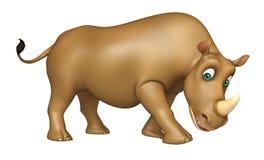 Fun Rhino cartoon character Royalty Free Stock Photo