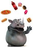 Fun rhino - 3D Illustration Stock Images