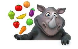 Fun rhinoceros - 3D Illustration Stock Images