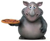 Fun rhinoceros - 3D Illustration Royalty Free Stock Image