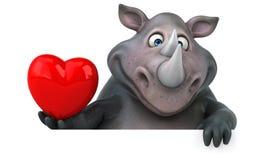 Fun rhinoceros - 3D Illustration Stock Photography