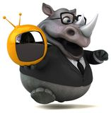 Fun rhinoceros - 3D Illustration Stock Photo