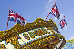Carousel and Union Jacks  Royalty Free Stock Photography