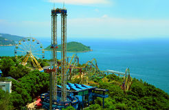 Fun rides of ocean park hong kong Stock Image