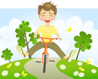 Fun riding bike Stock Photo