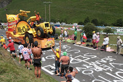 Fun on the road of the Tour de France Stock Photos
