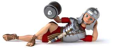 Fun roman soldier Royalty Free Stock Photography
