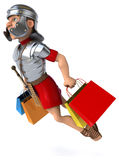 Fun roman soldier Stock Photography