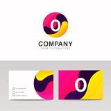 Fun round O letter logo sign. Abstract circle shape icon vector Royalty Free Stock Photography